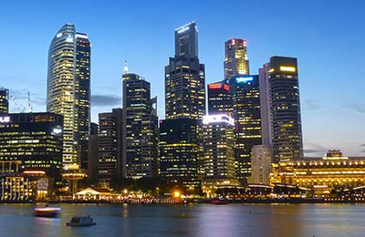 Singapur Harbourfront nach Batam