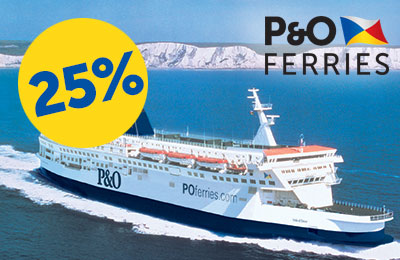 25% Rabatt auf Calais-Dover-Fahrten!